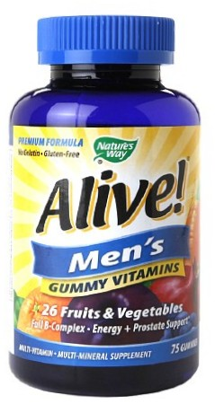 NATURE'S WAY: Alive Men's 50 Plus Gummy Multi Vitamin 75 ct