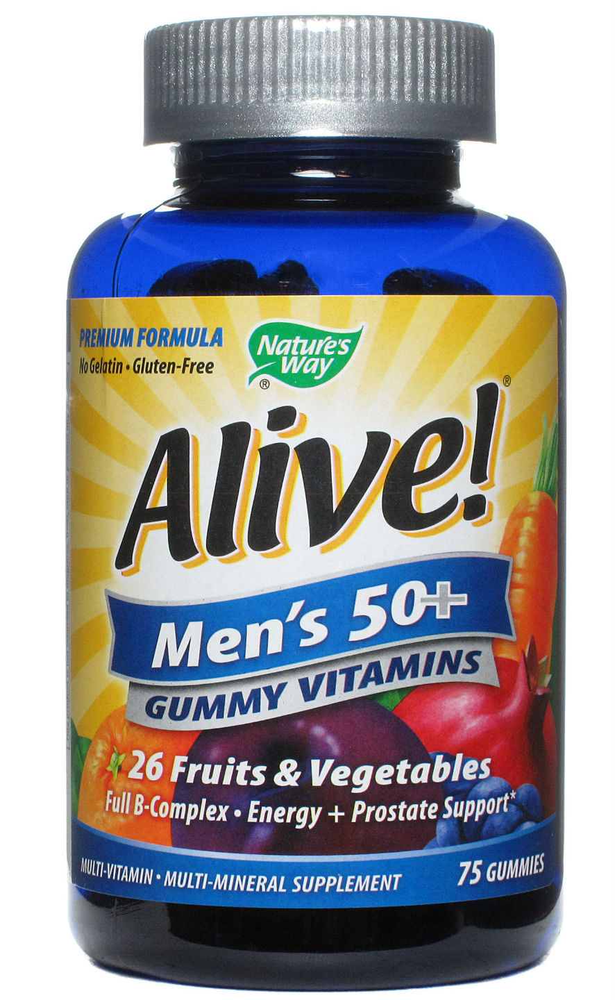 NATURE'S WAY: Alive Men's 50 Plus Gummy Multi Vitamin 75 Caps
