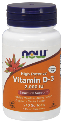 NOW: Vitamin D-3 2000IU 240 Gels