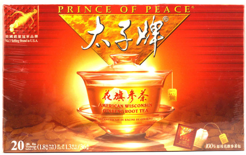 PRINCE OF PEACE: AMERICAN GINSENG ROOT TEA 20 Bags