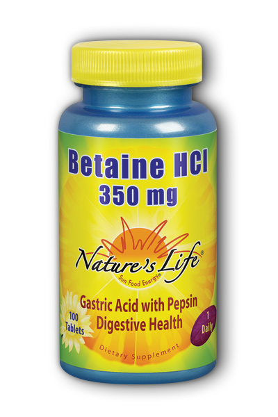 Natures Life: Betaine HCL, 350 mg 100ct