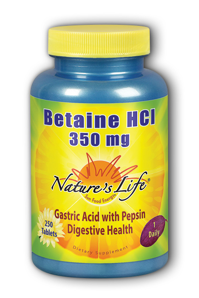 Natures Life: Betaine HCL, 350 mg 250ct