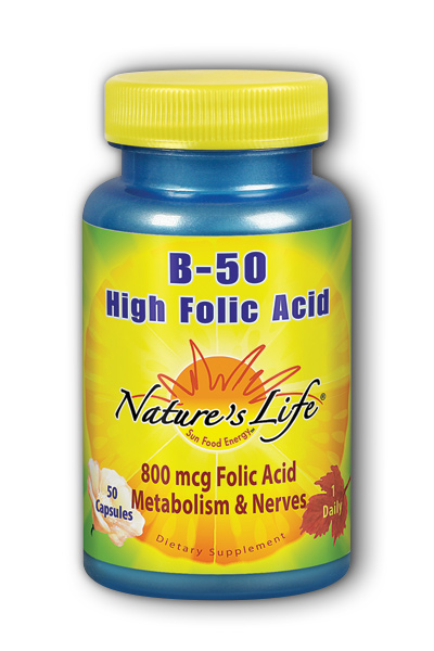 Natures Life: High Folic Acid B-50 50ct