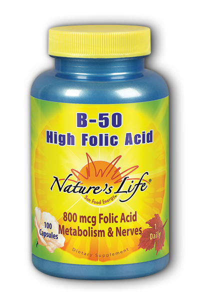 Natures Life: High Folic Acid B-50 100ct