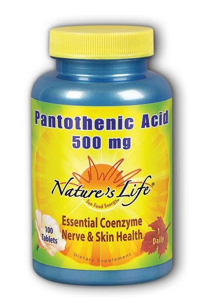 Natures Life: Pantothenic Acid, 500 mg 100ct