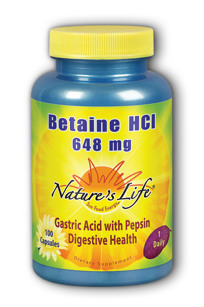 Natures Life: Betaine HCL, 648 mg 100ct