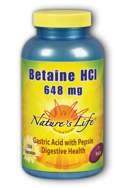 Betaine HCL, 648 mg