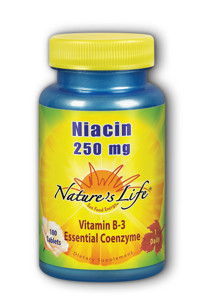 Natures Life: Niacin, 250 mg 100ct