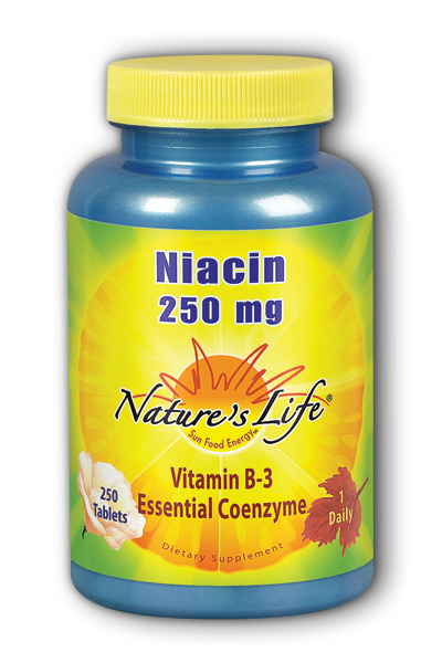 Natures Life: Niacin, 250 mg 250ct