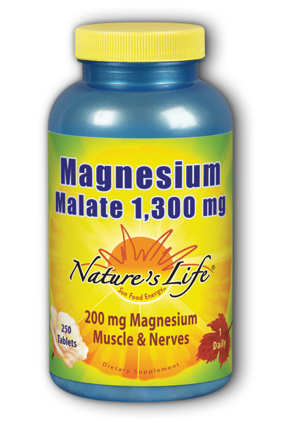 Magnesium Malate, 1,300mg, 250ct