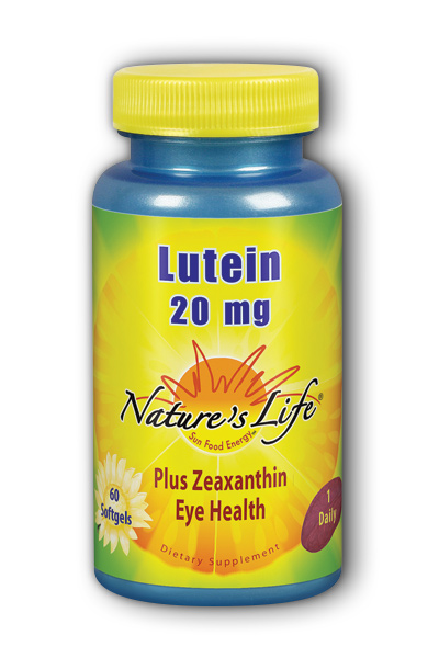 Lutein 20 Mg 60ct Softgel 16 69ea From Natures Life