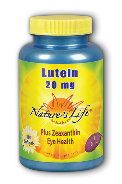 Natures Life: Lutein 20 mg 100ct  Softgel
