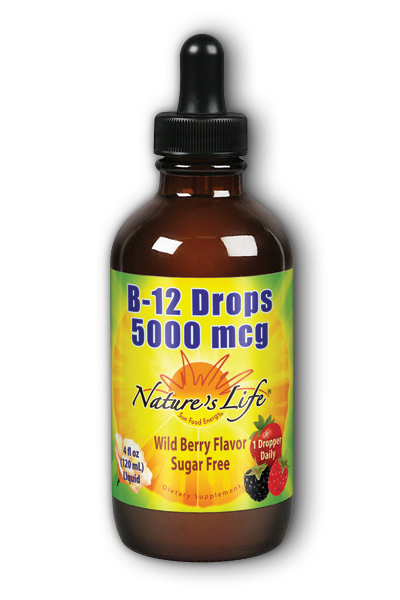 Nature's Life: B-12 Drops 5000 mcg Wild Berry 4 oz Liq