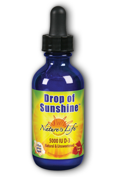 D-3 Drop of Sunshine Unflv 5000iu 2 oz from Natures Life