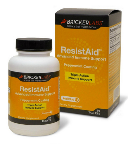 BRICKER LABS: ResistAid 1500mg w/Peppermint Coating 60 tab