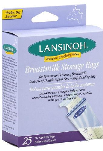 LANSINOH LABORATORIES INC: Breast Milk Storage Bags 25 bag