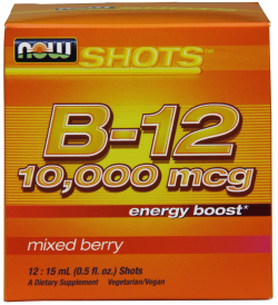 NOW: B-12 Shots 10000 mcg 12 - 15ml Shots