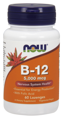 NOW: B-12 5000mcg Plus FOLIC  60 TABS 60 TABS