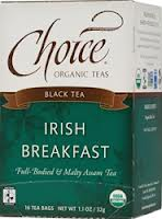 CHOICE ORGANIC TEAS: Irish Breakfast 16 bag