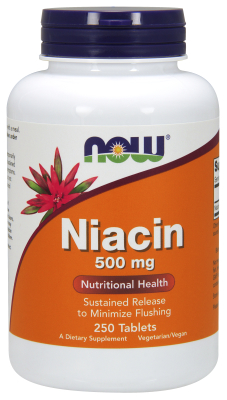 NOW: NIACIN 500mg TR  250 TABS 250 tabs sustained release