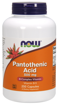 NOW: PANTOTHENIC ACID 500mg  250 CAPS 1