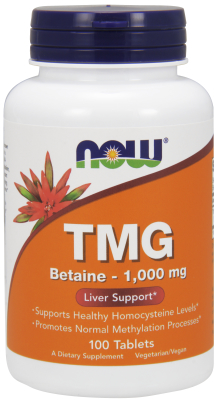 TMG (Trimethylglycine) 1000 mg, 100 Tabs