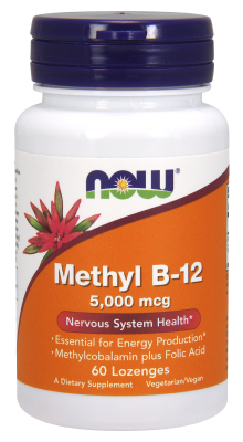 B-12 5000mcg   METHYLCOBAL 60 LOZ, 60 OZ