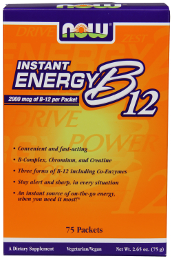 NOW: Instant Energy B-12 75 Packets Box 2000mcg