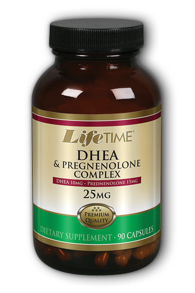 Life Time: DHEA and Pregnenolone 10mg-15mg 90 ct Cap
