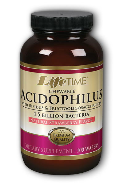 Life Time: Acidophilus With FOS Strawberry bil 100 Chw