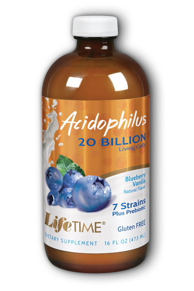 Life Time: Acidophilus With FOS Blueberry 16 oz