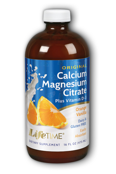 Life Time: Calcium Magnesium Citrate Orange Van 16 oz Liq