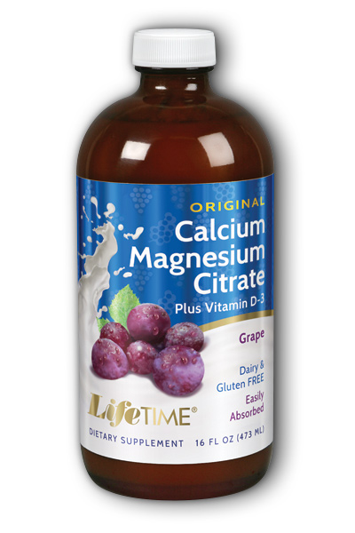 Life Time: Calcium Magnesium Citrate Grape 16 oz Liq