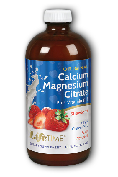 Life Time: Calcium Magnesium Citrate Strawberry 16 oz Liq