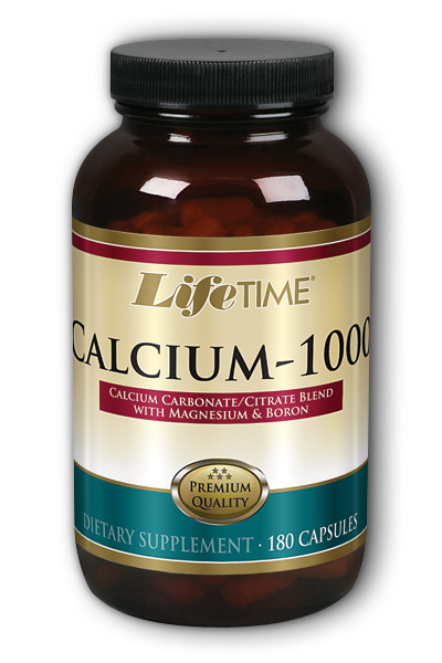 Life Time: Cal Citrate With Magnesium and Boron 1000mg 180 Cap