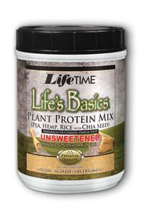 Life Time: Life's Basics Plant Protein Unsweetened 6 Packs Pwd