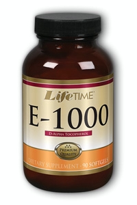 Life Time: E d-Alpha Tocopherol 1000iu 90 ct Sg