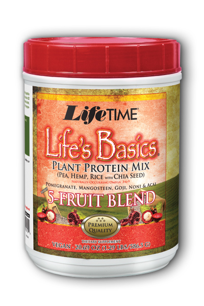 Life Time: Life's Basics Plant 5 Fruit Blend Berry 1.3 lbs Pwd