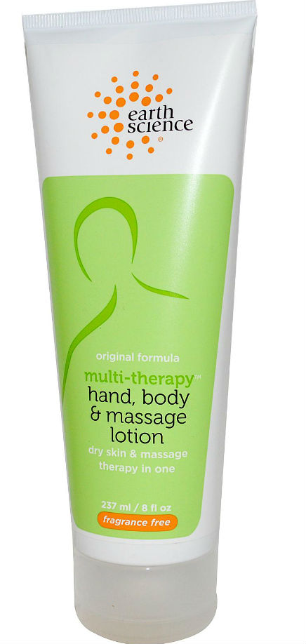EARTH SCIENCE: Multi-Therapy Hand Body And Massage Lotion Fragrance Free 8 oz