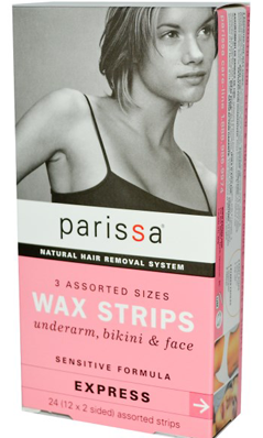 PARISSA LABORATORIES: Wax Strips 3 Assorted Sizes Sensitive 24 ct