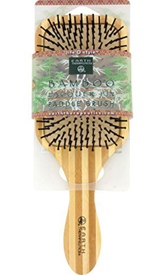 EARTH THERAPEUTICS: Large Nylon Bristle Bamboo Hair Brush 1 unit