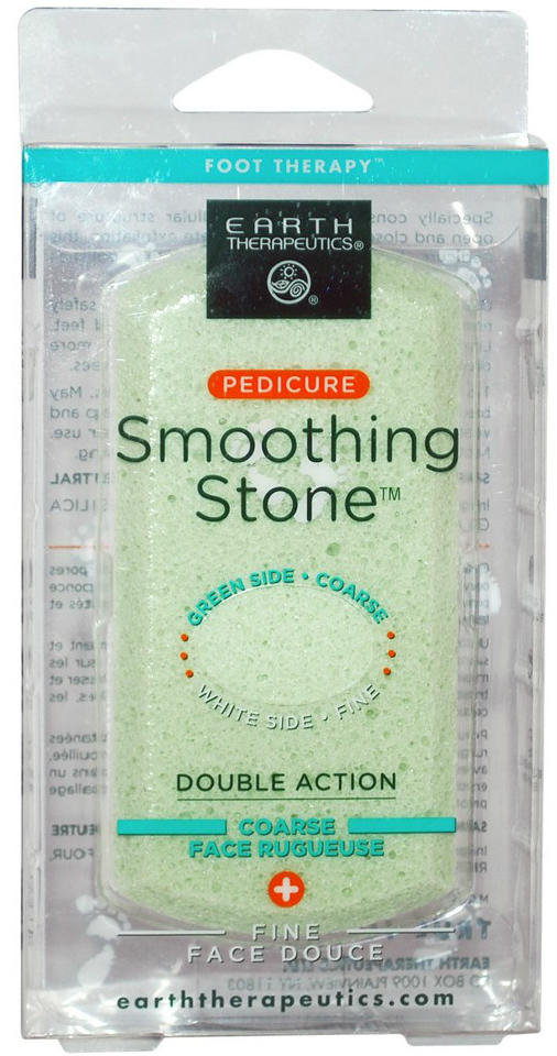 EARTH THERAPEUTICS: Pedicure Smoothing Stone- Green 1 unit