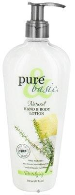 PURE and BASIC: Body Lotion Revitalizing 12 oz