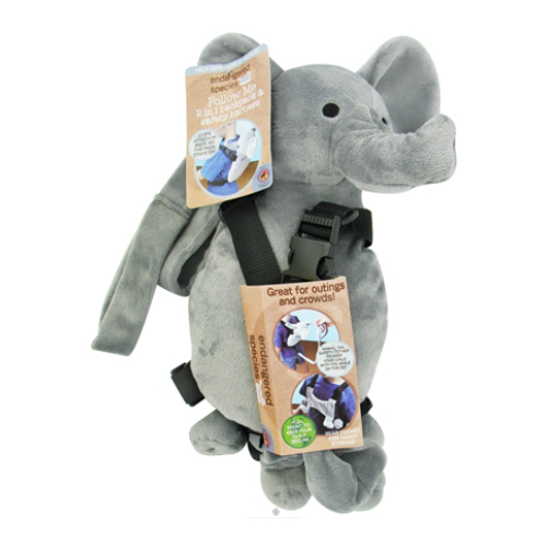 Endangered Species Follow Me Backpack/Safety Tail-Elephant