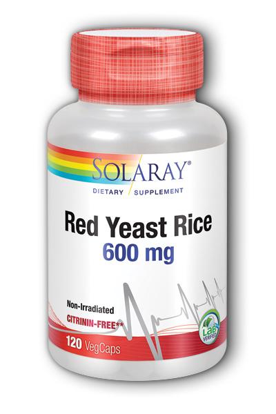 Solaray: Red Yeast Rice 120ct 600mg