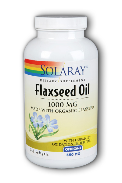 Solaray: Flaxseed Oil 1000mg 240ct 1000mg