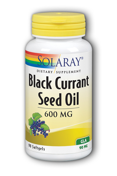 Solaray: Hexane Free Black Currant Seed Oil GLA 90ct 90mg