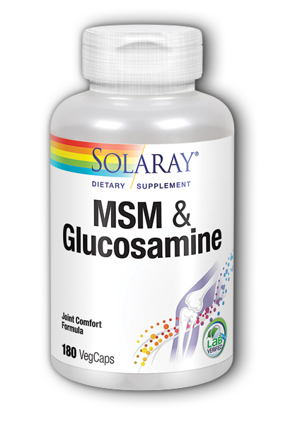 Solaray: MSM and Glucosamine 180ct