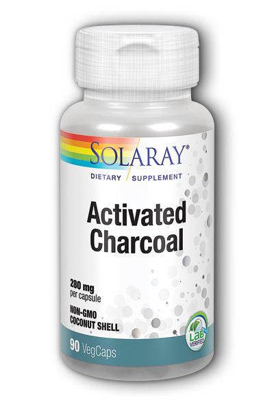 Solaray: Activated Charcoal 90ct 280mg