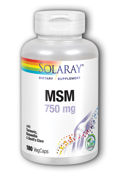 Solaray: MSM 180ct 750mg